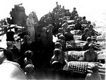 Burial at sea for the US Marines who died at Saipan, Mariana Islands, Jun-Jul 1944