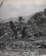 US Marines throwing grenades, Saipan, Mariana Islands, Jun 1944