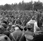 Montgomery addressing men of the British 15th (Scottish) Division during an investiture ceremony, 16 Sep 1944