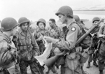 Paratroopers of 1st Allied Airborne Army receiving a final briefing before embarking on Operation Market Garden, 17 Sep 1944