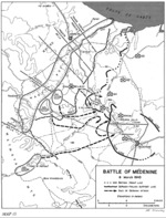 Map depicting the Battle of Medenine in Tunisia, 6 Mar 1943