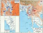Map depicting the British third campaign in Burma, Jun 1944-Mar 1945