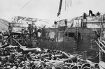 Damaged ship at Dutch Harbor, US Territory of Alaska, 5 Jun 1942
