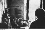 German paratroopers in the cellar of a destroyed house in Cassino, Italy, 1944, photo 1 of 3