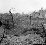 Monte Cassino monastery in ruins, Italy, Feb 1944, photo 1 of 3