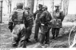 Italian paratroopers in a forest at Monte Cassino, Italy, 1943-1944, photo 1 of 3