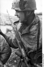 German paratrooper at Monte Cassino, Italy, 1943-1944