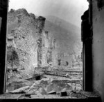Monte Cassino monastery in ruins, Italy, 1944