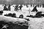 Soviet troops in exercise on Chistoprudny Boulevard in Moscow, Russia, 1 Dec 1941