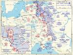 Map depicting the Soviet counter offensive of 6 Dec 1941-7 May 1942