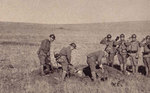 Military burial of fallen Japanese Army soldiers, northeastern China, 1930s