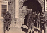 Japanese troops at barracks, possibly in Harbin, Manchuria, circa late 1931