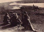 Japanese troops firing field guns, northeastern China, circa Oct-Nov 1931