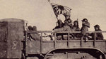 Japanese troops in the back of a truck, northeastern China, date unknown
