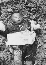 Dead Chinese child in Nanjing, China, Dec 1937-1938