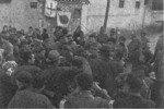 Japanese officers with Chinese civilians, Nanjing, China, 17 Dec 1937, photo 1 of 3