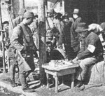 Japanese soldiers in Nanjing, China, 17 Dec 1937