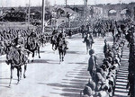 Japanese General Iwane Matsui marching into Nanjing, China, 17 Dec 1937, photo 1 of 2