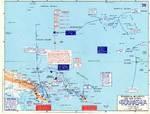 Map depicting Operation Cartwheel and the invasion of Gilbert and Marshall Islands, 30 Jun 1943-26 Apr 1944
