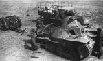Captured Japanese Type 95 Ha-Go tanks being inspected by Soviet troops, Mongolia Area, China, 1938