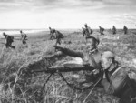Mongolian DP machine gun crew, Battle of Khalkhin Gol, Mongolia Area, China, 1939