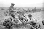 Soviet troops with captured Japanese field guns, Nomonhan, Mongolia Area, China, Aug 1939