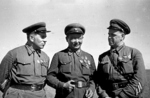 Grigori Shtern, Choibalsan, and Georgy Zhukov in Mongolia Area of China, 1939