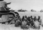 Type 89 medium tank and crew, Mongolia Area, China, 1939
