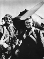 Soviet pilots with an I-16 fighter, Mongolia Area, China, Aug 1939