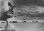 Ki-27 aircraft at an airfield in Mongolia Area, China, 1939