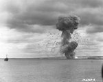 Ammunition dump explosion in Cherbourg harbor, France, 17 Aug 1944