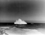 Detonation of a naval mine off Normandy, France, Jun 1944