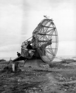 German Würzburg radar at the beach near Arromanches les Bain, Normandy, France, 22 Jun 1944