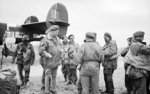 Major General R. N. Gale of UK 6th Airborne Division talking to troops of 5th Parachute Brigade, Royal Air Force Harwell, Berkshire, England, UK, 4 or 5 Jun 1944