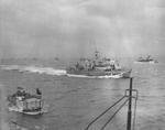 British naval craft off Normandy, France, Jun 1944