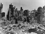Church in Coutances, France devastated by Operation Cobra bombing, 14 Aug 1944