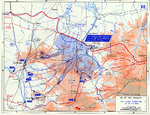 Map depicting the situation near Saint-Lô, France during Operation Cobra, 25-29 Jul 1944