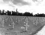American cemetery at Sainte-Mère-Église, France, near Utah Beach, 1 Jun 1945