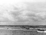 LCI(L), LCM and LCVP landing craft approached Omaha Beach, Normandy, 6 Jun 1944