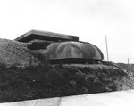 Reinforced concrete observation post, part of a German fortification at Cherbourg, France, 15 Sep 1944