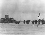 Americans land on Utah Beach from LCT-475, Normandy, 7 Jun 1944