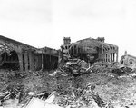 Dock facilities destroyed by the Germans before the city was captured by the Allies, Cherbourg, 17 Jul 1944