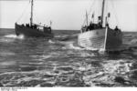 German Navy boats in Danish waters, circa 1940, photo 1 of 2