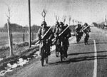 Danish soldiers on bicycles, 9 Apr 1940