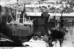 Damaged ships at Narvik, Norway, Apr 1940, photo 1 of 2