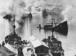 Damaged ships at Narvik, Norway, Apr 1940, photo 2 of 2