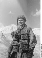 German airborne trooper at Gran Sasso, Italy, 12 Sep 1943