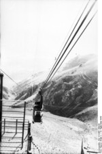 Cable car at Gran Sasso, Italy, 12 Sep 1943, photo 1 of 4