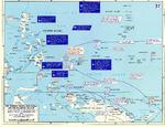 Map depicting Allied advances in the southwestern Pacific Ocean area, 30 Jul-22 Sep 1944