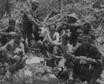 US Marines receiving mail, Peleliu, Palau Islands, Sep 1944